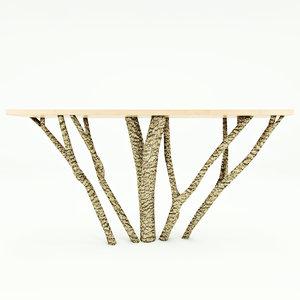 free wooden bar 3d model