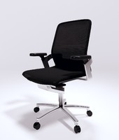 ergonomic wilkhahn office chair 3d model