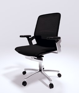 ergonomic wilkhahn office chair 3d model