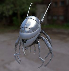 maya insectoid robot pbr