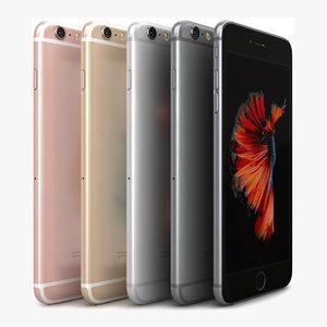 3d apple iphone 6s color model