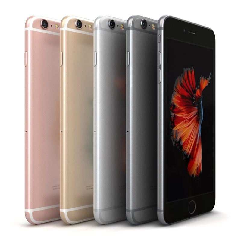 3d apple iphone 6s color model