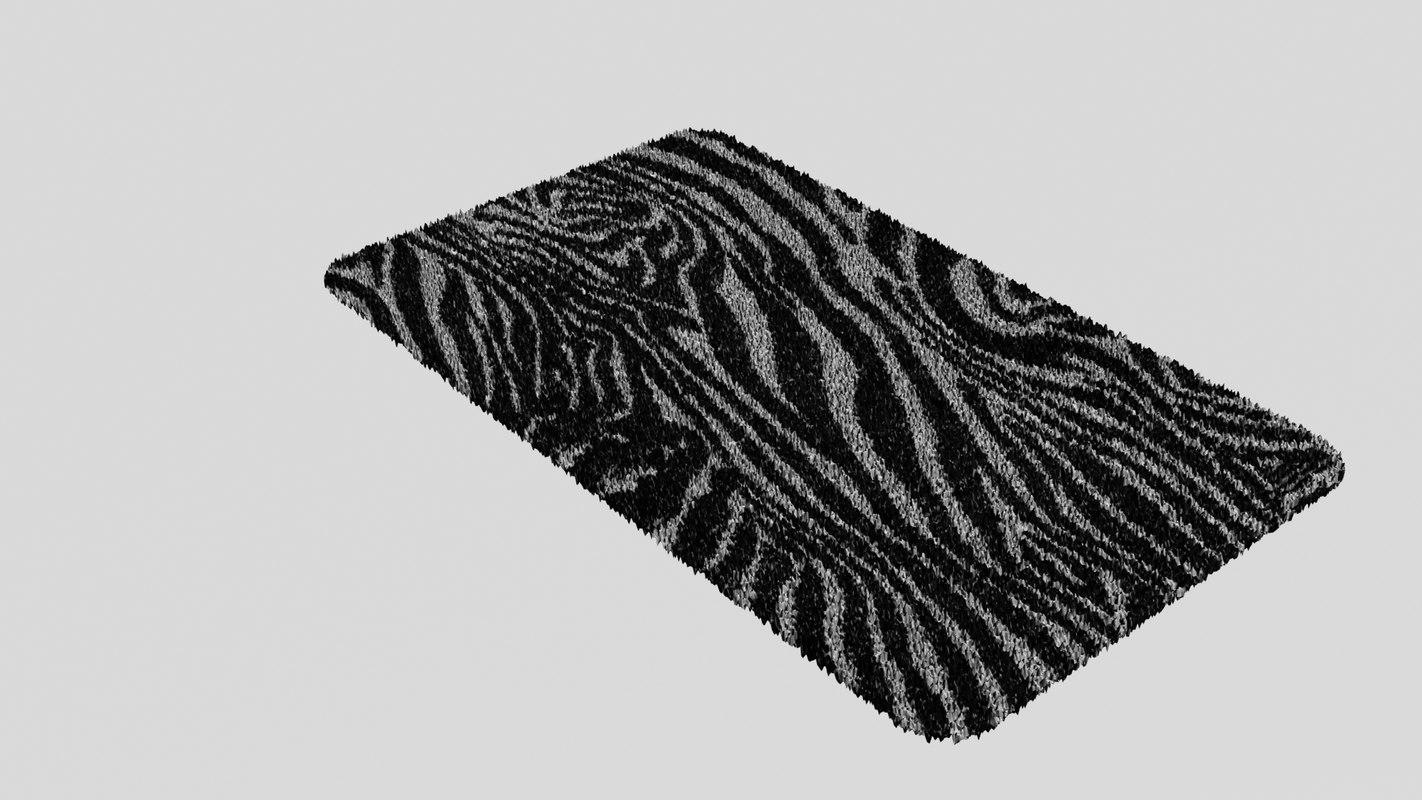 3d carpet zebra model