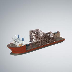 3d vessel dockwise marine heavy model