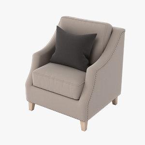 neptune eva armchair 3d obj