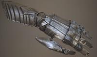 medieval gauntlet 3d model