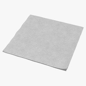 paper napkin 3d max
