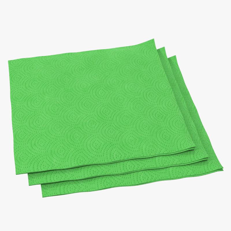 3ds paper napkin green