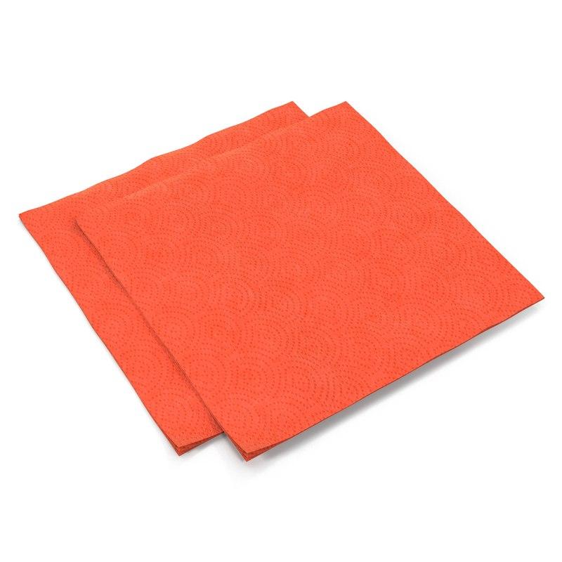 paper napkin red 3d model