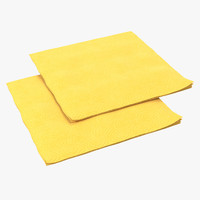 3d paper napkin yellow