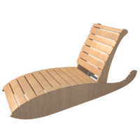 swimming lounge chair 3d model