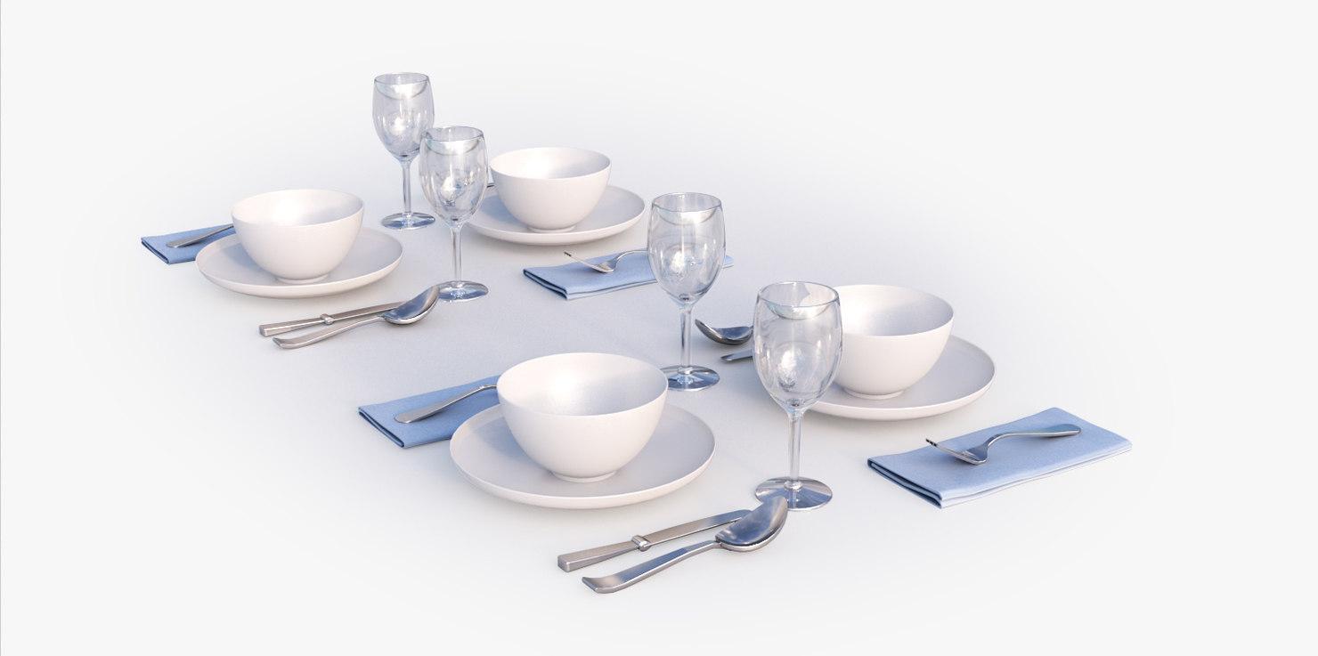 tableware table 3d max