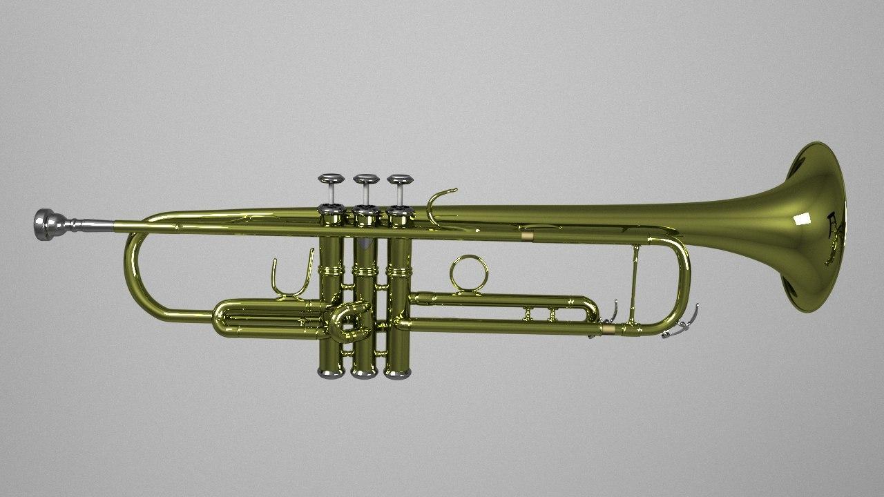 trumpet 3d obj