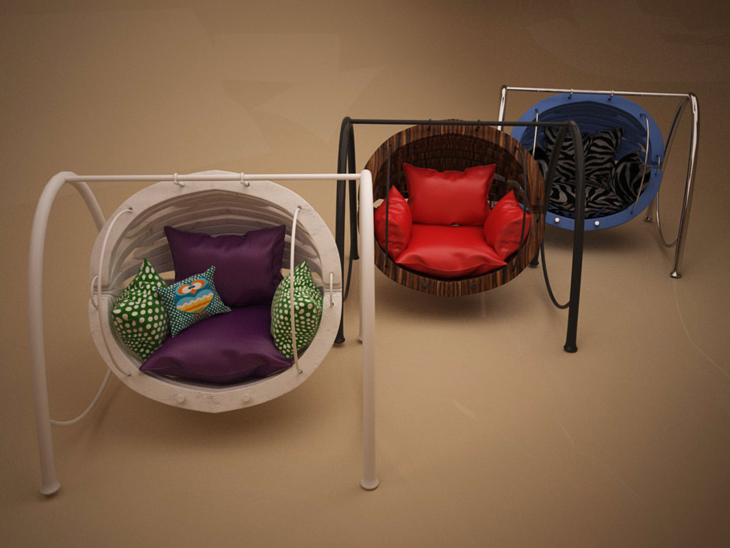 3d model stylish chair