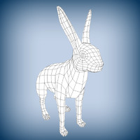 wild rabbit base mesh 3d x