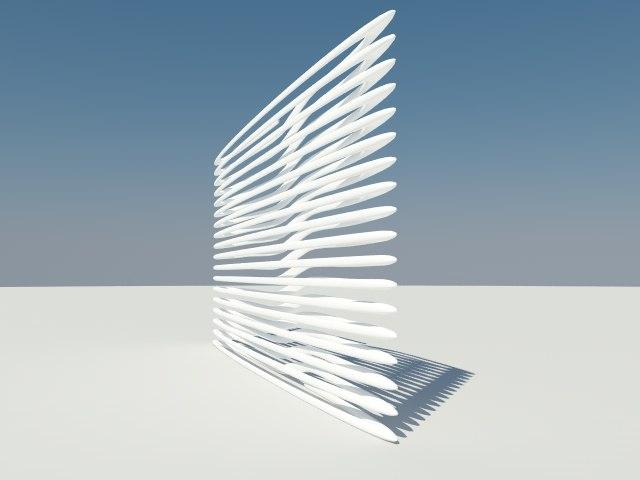 3d model of design panel