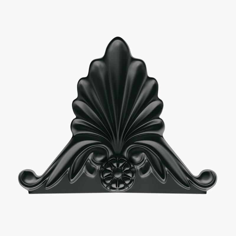 3d decorative element empire model