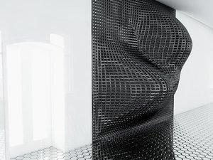 c4d decorative wall panel