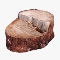 wooden stump obj