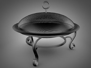 cast iron pit 3d model