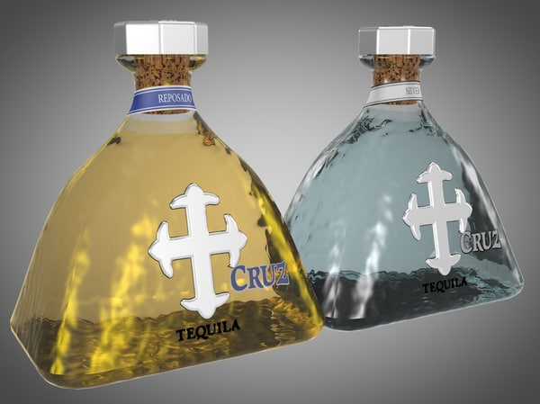 3d 3ds bottles cruz tequila