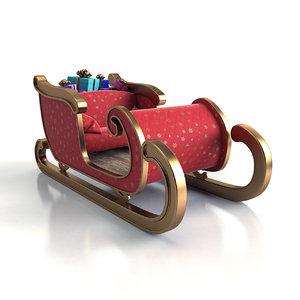 3d santa s sledge