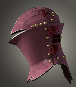 jousting helm stechhelm obj