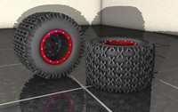 3d assortment wheels tires model