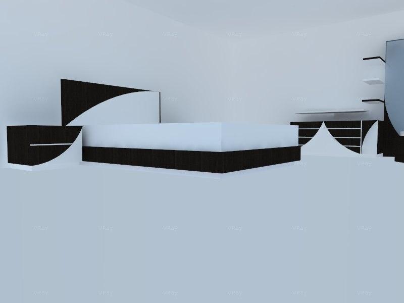 3d bedroom scene model