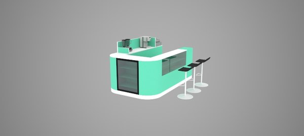 3d coffe stand