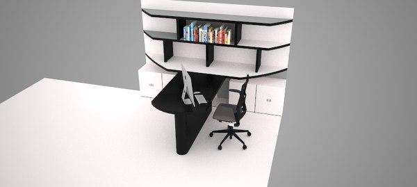 3d model desk design