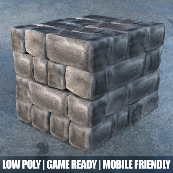 free stones blocks 3d model