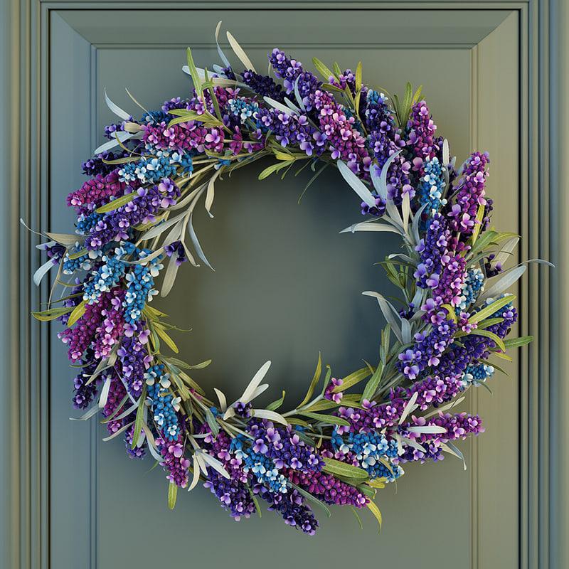 max lavander wreath flowers