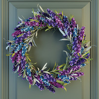 max lavander wreath flowers