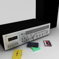 3d model radio funai