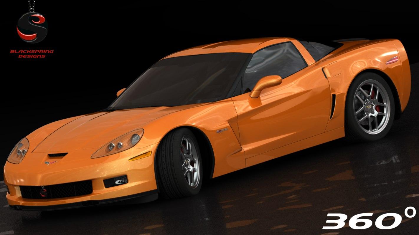 3d chevrolet corvette z06 interior model