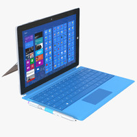 microsoft surface 3 3d 3ds