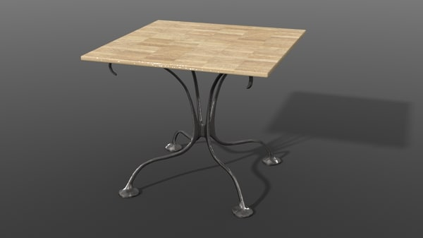 3d geordie small square table
