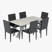 Cattelan Italia Eliot Dining Table & Chair Set