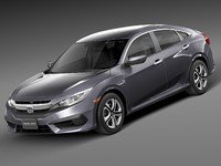 honda civic lx 3d 3ds