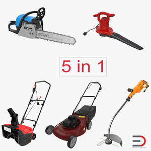 garden power tools 2 3d max