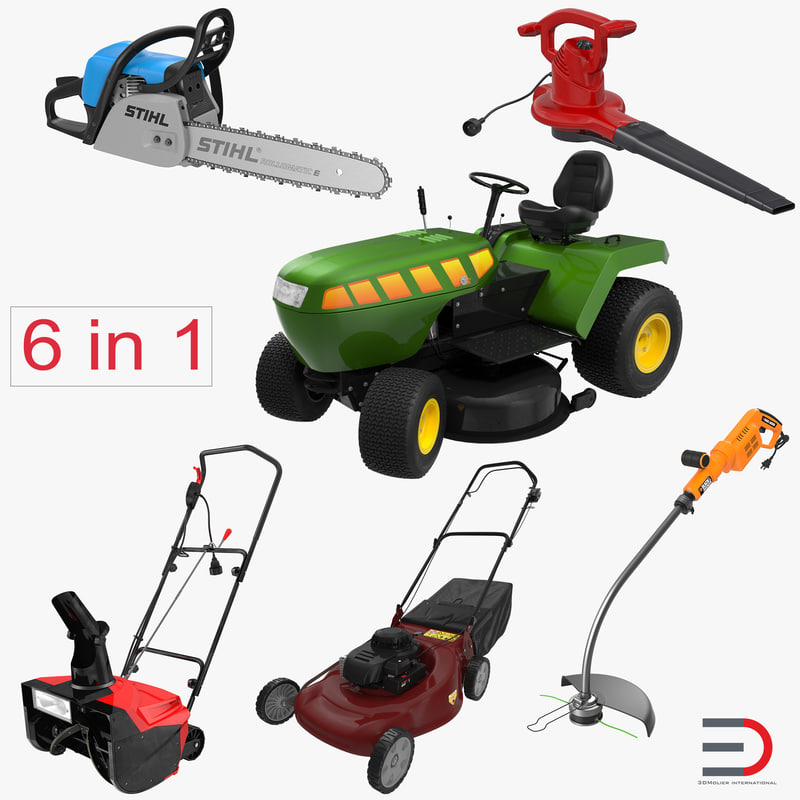 Max garden power tools for Gardening tools 3d model
