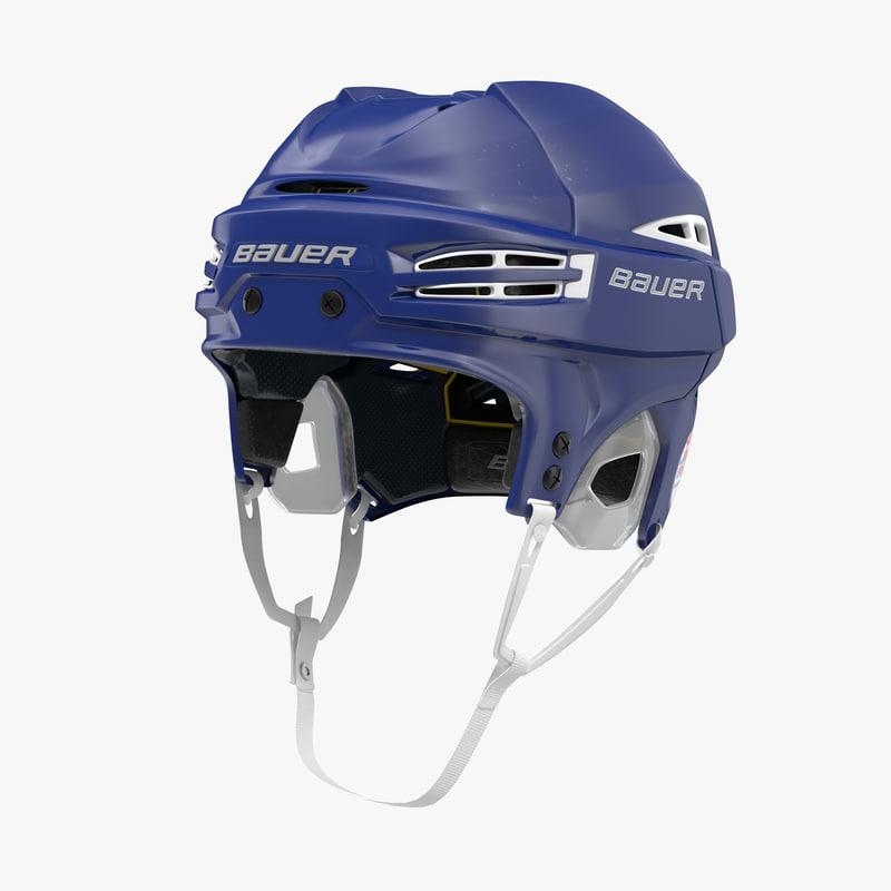 3d hockey helmet bauer re-akt model