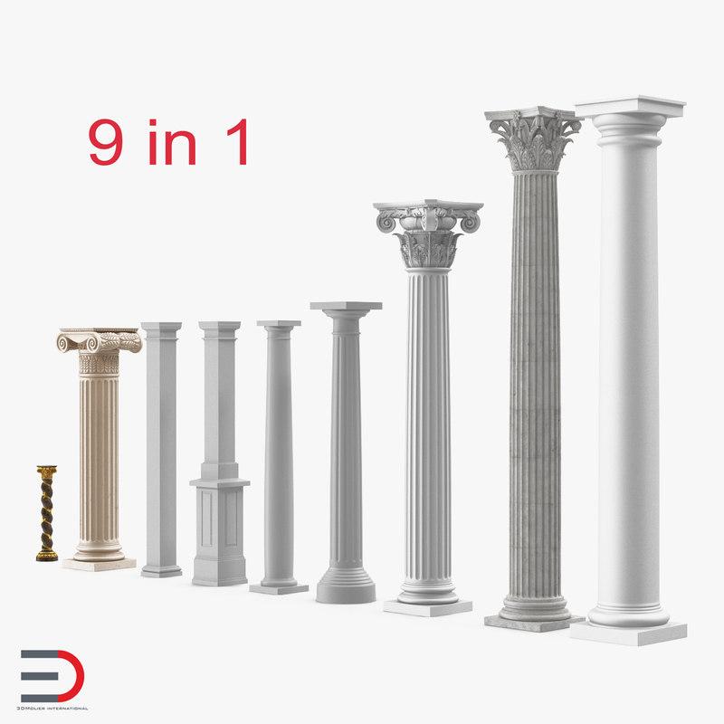 3d model of columns 3