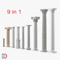 Columns 3D Models Collection 3