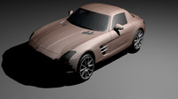 sls amg toy car obj