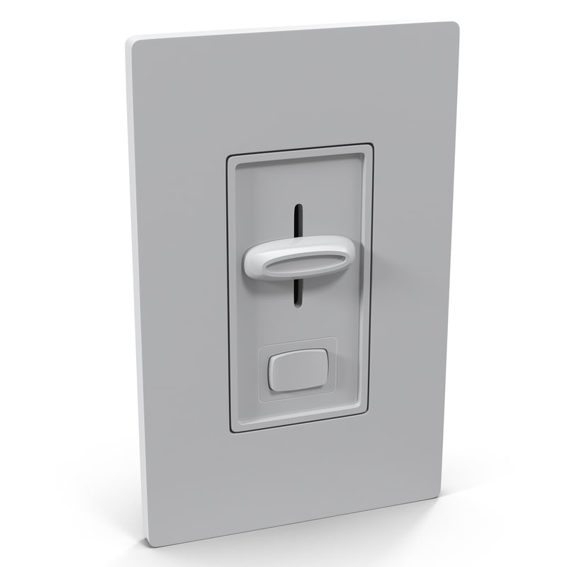 dimmer switch generic 3d model