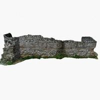 3d model ruins 5 - masonry