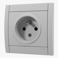 3d model of european electrical outlet