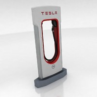 3d tesla supercharger model